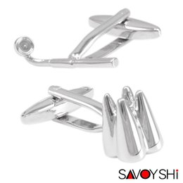 $enCountryForm.capitalKeyWord Canada - SAVOYSHI Magnifier tooth Shape Cufflinks for Mens Shirt Cuff Accessories Novelty Cuff link Top Grade Designer Cuff Brand Jewelry