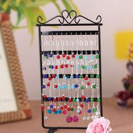 Wholesale Useful Holes Black White Jewelry Handing Earring Display Necklace Showcase Rack Stand Holder Home Storage ZA5245