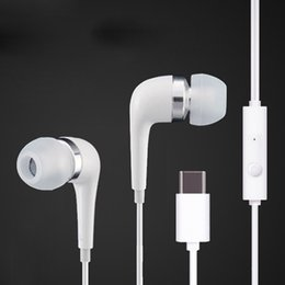 $enCountryForm.capitalKeyWord Canada - For Huawei Mate9 P9 Smartphone Type C Earphone Headset In-ear Earbuds White Stereo Type-C Headphones for Samsung Letv Mobile Phone