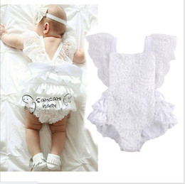 86a523171790 Cute Baby White Lace Dress Rompers 2017 New Summer Infant Girls Cotton Princess  Jumpsuits Toddler One-Piece Onesies 0-2 Years 8pcs lot