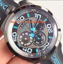 Men Luxury Rubber Watches Canada - Luxury Watch NEW AUTHENTIC BOMBERG BOLT 68 QUARTZ CHRONO BLUE PVD RUBBER Bracelet WATCH 45mm Men Watches