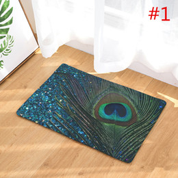new home decor antislip carpets peacock feathers pattern mats bathroom livingroom floor kitchen rugs 40x60 50x80cm