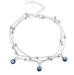 $enCountryForm.capitalKeyWord Australia - 2 Style Turkish Eyes Beads Anklets For Women 2017 Sandals Pulseras Tobilleras Mujer Pendant Anklet Bracelet Foot Summer Beach Jewelry