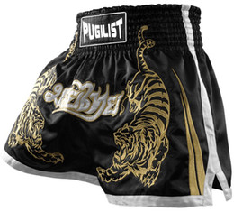 thai box shorts NZ - Quality goods-Tiger PUGILIST MMA short HYBRID KICKBOXING MUAY THAI SHORTS FIGHT SHORTS Muay Thai Boxing shorts-Black