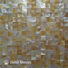 Yellow Shell Mother Of Pearl Mosaic Tile For Interior House Decoration Bathroom And Kitchen Wall Tile 20x20mm