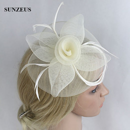 vintage headpieces hats UK - Beautiful Ladies Vintage Flower Hair Fascinators Prom Headpieces Headdress Bride 2017 Wedding Hats Accessories Wholesale Free Shipping