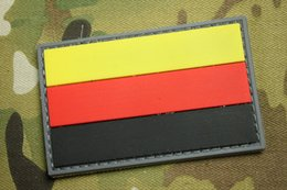 29f7a644b3e 10pcs Germany Flag PVC Patch Rubber 3D Tactical Hook And Loop Patches  Combat Badge Army Armband