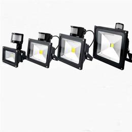 Detective light online shopping - V w w w w W PIR LED Flood light lamp with Motion detective Sensor Outdoor LED Floodlight spot