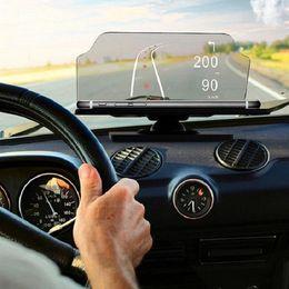 Car Heads Up Display Australia - Universal Smartphone Driver Heads Up Display Head Up HUD Mobile Phone Car Holder 6.5 Inch For iPhone Samsung GPS