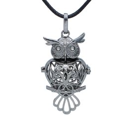 Gun Pendants UK - Free P&P! Wholesale Aromatherapy Jewelry Gun Black Heart Owl Locket Pendant Essential Oil Diffuser Leather Necklace