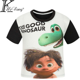 Childrens Animal Shirts Canada - 5-13 years the good dinosaur boys clothing summer 3D boys t shirt dinosaur for kids clothing for teen boys Baby Clothing childrens 110-150cm