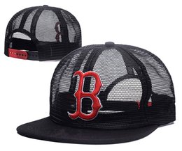 Wholesale CHeap Men s Red Sox Snapback Hat in Baseball Caps Embroidered  team logo Adjustable Cap Brands Cheap Summer Mesh Fresh Bones C 5538547ba331