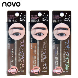 Colorantes Del Tatuaje Baratos-Eye Tinte Tatuaje de la frente impermeable de larga duración Peel Off Dye Ceja gel crema Mascara Make Up Pen Corea Cosméticos NOVO Eye Makeup Valentines
