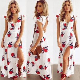 df0672fdca Summer Women bohemain dresses Boho Sexy Backless Butterfly Sleeve Long Maxi  Dress Party Beach vacation Dress Sundress vestidos femininos New