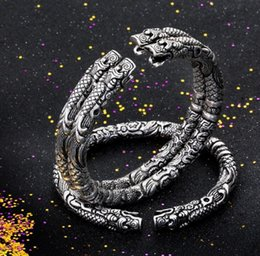 Copper Bezel Canada - Beichong The Mystic Nine Silver Plated Brass,Copper Buddha Bracelet Jewelry For Man Men Party BC-001 Wholesale