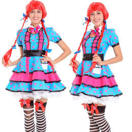 Robe De Fille Sexy Pas Cher-Maid Service Halloween Sexy Costume Uniform Tentation Beer Girl Costume d'Oktoberfest Costume allemande Robe de fantaisie Cosplay