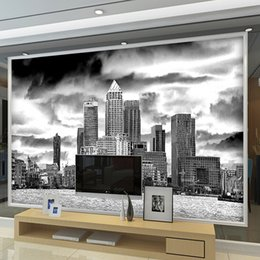 $enCountryForm.capitalKeyWord NZ - Wall Mural European Retro Building TV Backdrop Bedroom Living Room Home Improvement Black And White wallpaper for walls 3 d