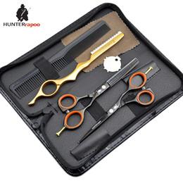 "$enCountryForm.capitalKeyWord Canada - 5.5"" inch haircut scissors kit salon tools Japanese stainless black hair scissor set razor hairdressing tools"