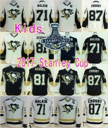 d5ada57a365 Kids Pittsburgh Penguins White Black Youths Hockey Jersey 87 Sidney Crosby  71 Evgeni Pittsburgh Penguins 12 Jarome Iginla ...