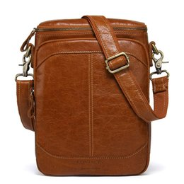 Chinese  Genuine Leather Men Bags Business Male Messenger Bag Designer Handbags High Quality Brand Crossbody Shoulder Bag manufacturers