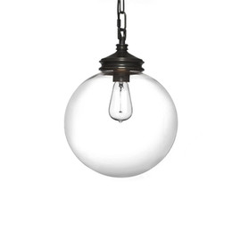 Discount cafe style lights - Minimalist Glass Ball Pendant Light Retro Style Iron Black Spray Paint Glass Lamp Shade Restaurant Cafe Bar Corridor E27