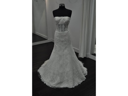 Dress Cor Australia - High Quality Lace Trumpet Strapless Sheer Illusion Lace Appliques Custom Made Real Photos Bridal Gown Wedding Dresses COR-1046