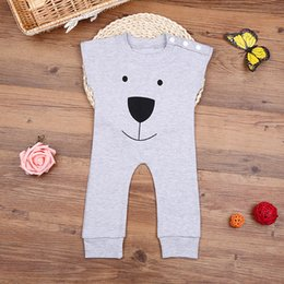 Bear Baby Animals Canada - 2016 New Arrival Bear Baby Rompers Jumpsuits Children Winter Spring chothing playsuit outfit cute lovely style toddler chothes free shipping