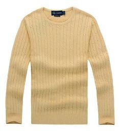 f36261732 Envío gratis 2018 nueva alta calidad milla wile polo marca hombres suéter  de punto jersey de algodón jersey jersey suéter pequeño caballo