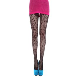 Barato Coleiras Grossistas De Rede Negra-Venda por atacado - 2016 Hot Fashion Women Summer Sexy Hollow Out Black Fishnet Padrão Leg Leggins Meias Meias Pantyhose 5 estilos NQ989012