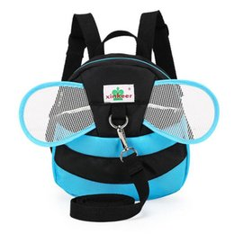 $enCountryForm.capitalKeyWord Canada - Wholesale- Cartoon Kids Anti-lost Backpack Walking Safety Harness Baby Backpacks Super Light Toddler Bee Bag With Wings