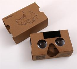 Google Virtual Glasses NZ - 3D Glasses VR Glasses DIY Google Cardboard 2.0 VR Glasses Mobile Phone Virtual Reality 3D Glass For iPhone 6 6S 7 Plus Samsung Galaxy S8 677