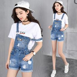 228f60e42ac Wholesale- 2017 Summer Style Denim Shorts Plus size Korean Style Womens Jumpsuit  Denim Overalls Casual Girls Roll-up Hem Pants Jeans Short
