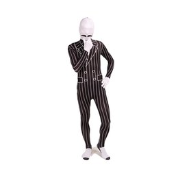 $enCountryForm.capitalKeyWord UK - Stripe Suit Pattern Cosplay Costumes Halloween Lycra Spandex Full Body Zentai Bodysuit For Unisex