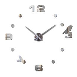 Discount reloj pare - Wholesale- 2016 Special Offer New Sale Clock Wall Clocks Reloj De Pared Horloge Watch Large Decorative Acrylic Mirror Qu