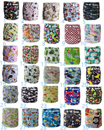 $enCountryForm.capitalKeyWord NZ - New Print Diapers Reusable Baby Soft Cloth Diaper Nappy +Nappies Pads Toddler Training Pants cotton Diapers Washable Waterproof Fresh Color