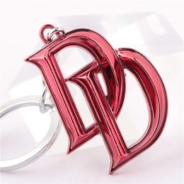 Superhero Keychains Canada - DD Comics Superhero Daredevil Matt Murdock Fashion Jewelry Metal Alloy Keychain Key Rings For Women&Men Size 5*4cm