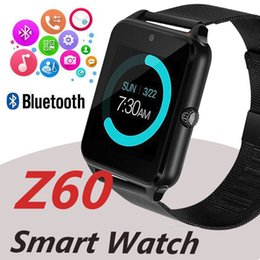 Discount smart watches phones apple - Bluetooth Smart Watch Phone Z60 Stainless Steel Support SIM TF Card Camera Fitness Tracker GT08 GT09 A1 V8 Smartwatch fo