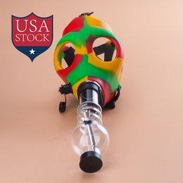 gas mask water pipes sealed acrylic hookah pipe bong filter smoking pipe tobacco water pipe respirator mask bongs sa0030