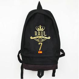 e09fc8c0cd43 Raul Gonzalez Blanco backpack Soft Nylon daypack Strong star schoolbag  Football rucksack Sport school bag Outdoor day pack