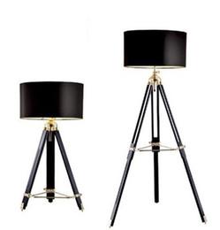 Free Shipping Modern Home Study Floor Lamp American Retro Three Legged Photography Light Living Room Cafe Studio LLFA