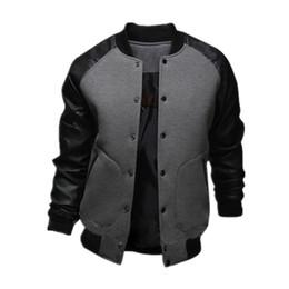Discount Mens Baseball Jacket Leather Sleeves | 2017 Mens Baseball ...