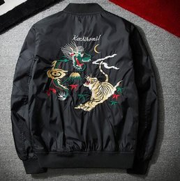 Top quality luxury brand new arrival classic Men Embroidered baseball  clothing cool Retro Zipper abstract pattern sports casual jacket