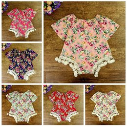 $enCountryForm.capitalKeyWord Australia - INS 2017 baby girl kids toddler 0-2Years Summer Rose floral Tassels Lace Romper Onesies Jumpsuits Diaper Covers Bloomers Pajamas Outfits