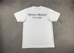 Pigalle Tee Canada - Bonjour Madame SS17 box Logo Tee Pigalle Christmas T shirt Men And Women Shirts Top Cotton Tees Hip Hop Streetwear