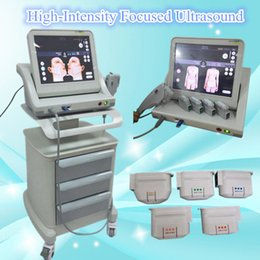 Barato Rugas Da Máquina De Ultra-som-10000 Shoots HIFU High Intensity Focused Ultrasound rosto máquina de cuidados com a pele Wrinkle Removal corpo moldando Portable Hifu Ultrasound Machine