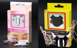 hen party props NZ - ED Acoustic Eyelashes Light Up Eyelid False Eyelashes Saloon Pub Club bar Glow Party Dance Luminous Prop halloween Cos cool stag hen dressup