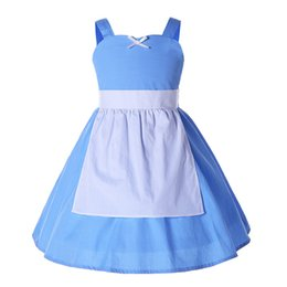 Chinese  Pettigirl Newest Summer Girls Party Princess Cosplay Dresses Baby Girl Sleeveless Blue Slip Dress Toddler Bontique Clothes G-NBGD1004-2202 manufacturers