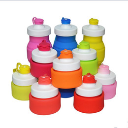 Foldable water bottle For outdoor online shopping - 19 yf Creative Silicone Collapsible Water Bottle Leak Proof BPA Free Bottles Lightweight Travel Cups Kettle Foldable Cup For Outdoor R