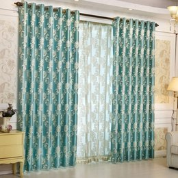 hot selling luxury european style curtains jacquard pattern kitchen window curtains bedroom window valance 1 piece ji0299