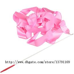 $enCountryForm.capitalKeyWord Canada - Dancing Ribbon Wand Ballet Ribbon Stick Rhythmic Gymnastics Art Fitness Streamer Twirling Rod for Women Girls Pink